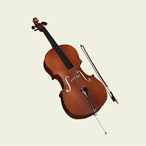 3д виолончель